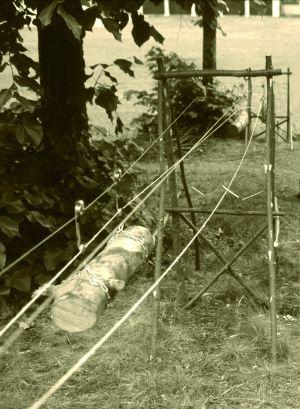 Ricostruzione in scala di teleferica a contrappeso